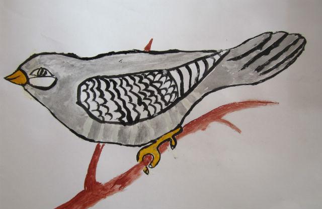 картинки как нарисовать кукушку после рождения